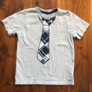 Gymboree Tie Appliqué Short Sleeve Shirt Size 4T